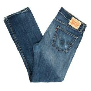 Levi's 513 Jeans Slim Straight Denim Mid Sz 34X32